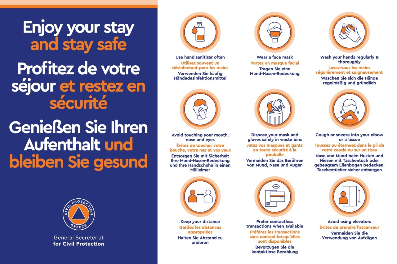 «Enjoy your stay and stay safe» the new campaign of the General Secretariat for Civil Protection!