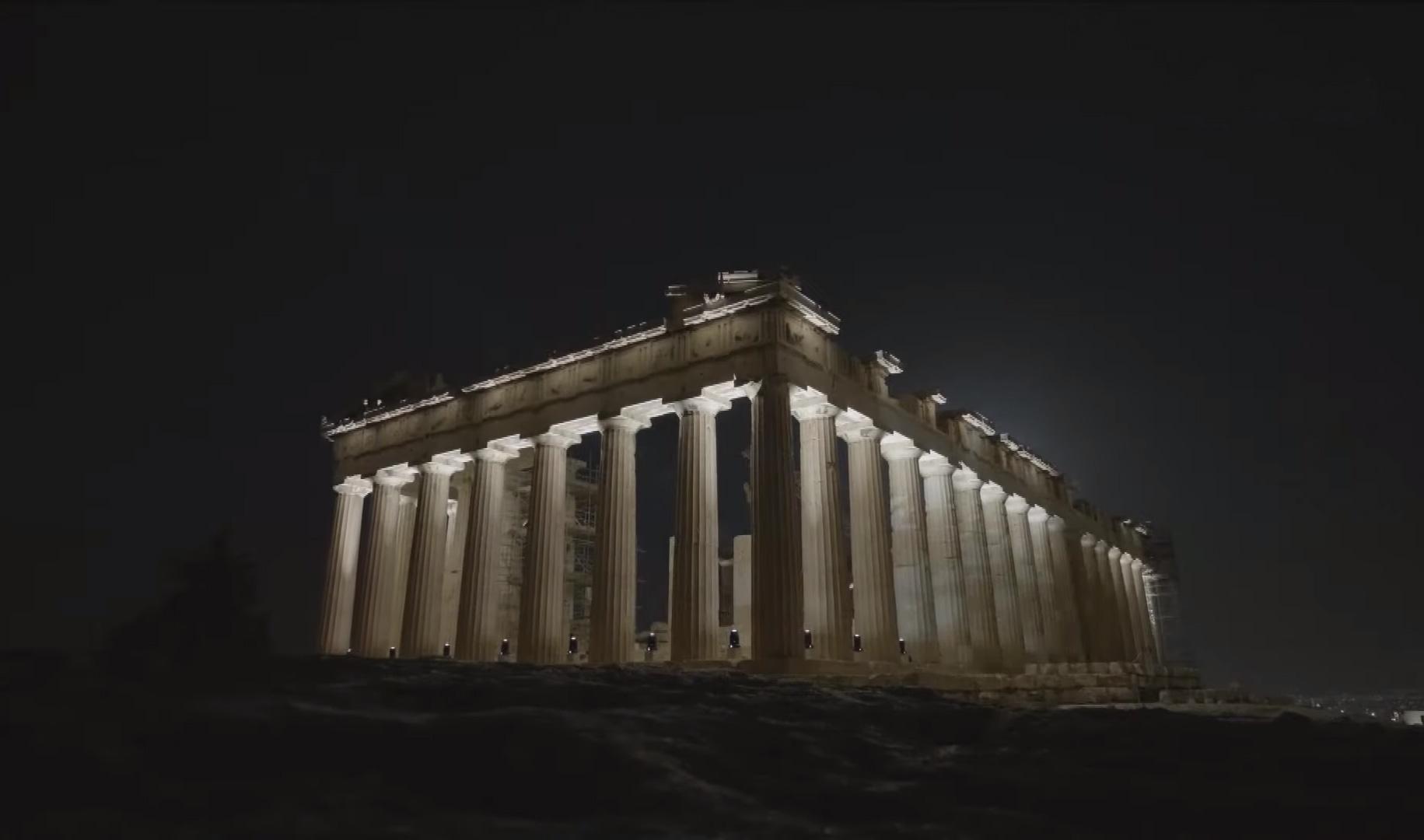 Ο νέος φωτισμός της Ακρόπολης!