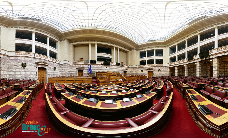 """Παρουσίαση της εικονικής περιήγησης της Αίθουσας της Ολομέλειας της Βουλής των Ελλήνων, στην εκπομπή """"ΕΡΤ Σαββατοκύριακο"""""""